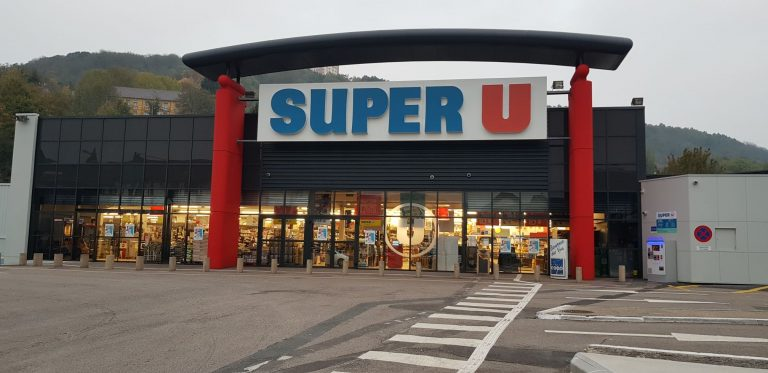 façade magasin super U