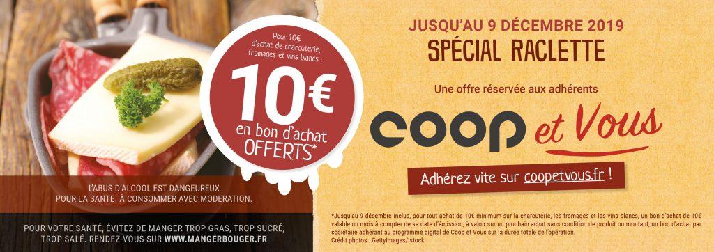 L'offre Coop et Vous Spéciale raclette